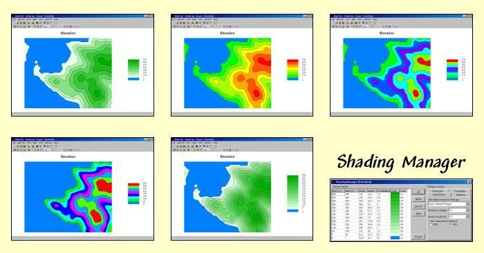 MapCalc Shading Manager Options - Package of map colors